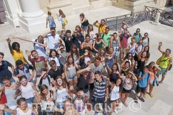 Diákok csoportja Vallettában